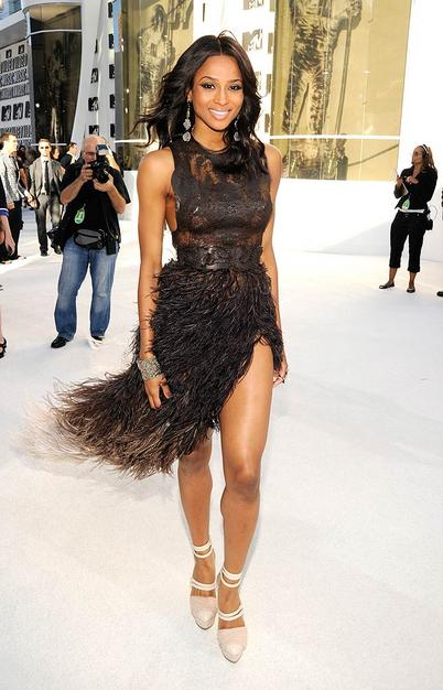 Ciara arrives at the 2010 MTV Video Music Awards held at Nokia Theatre L.A. Live on September 12, 2010 in Los Angeles, California. 2010 MTV Video Music Awards - Red Carpet Nokia Theatre L.A. Live Los Angeles, CA United States September 12, 2010 Photo by Kevin Mazur/WireImage.com To license this image (61615654), contact WireImage.com